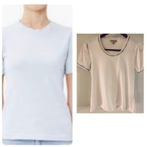 Burberry Tops - Burberry London T Shirt With Burberry Print Piping